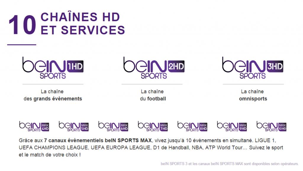 Images 10 chaînes HD et Services