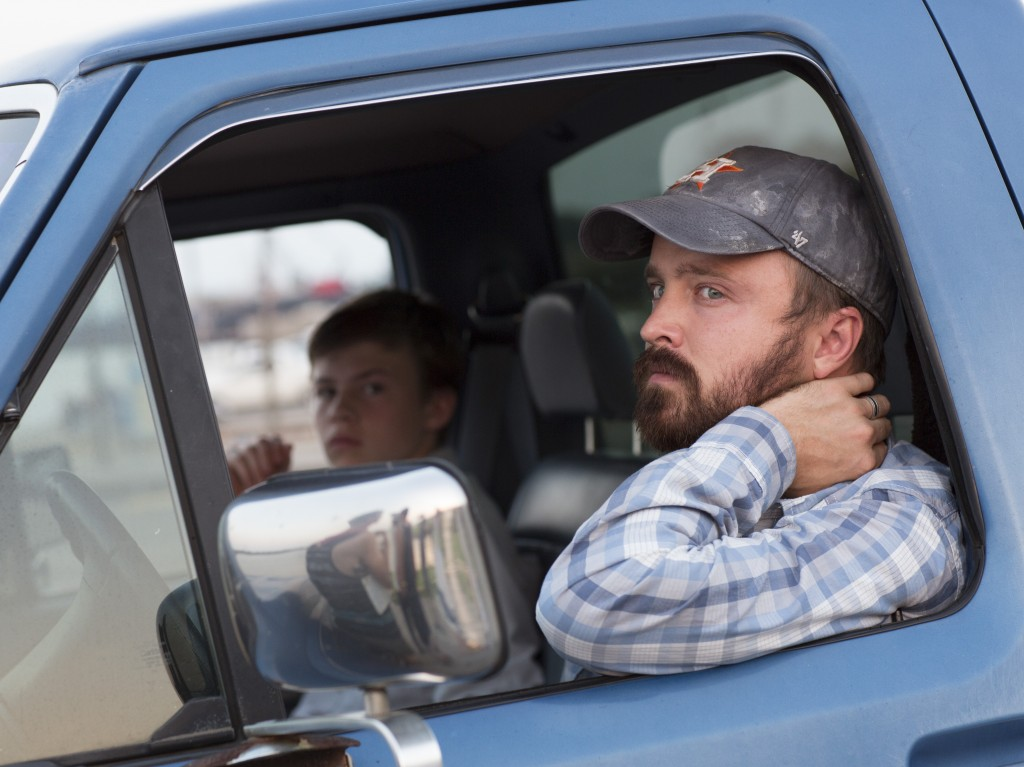 Josh Wiggins and Aaron Paul star in Hellion.