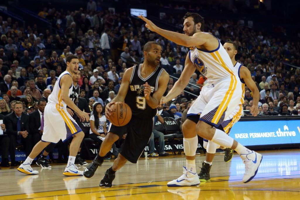 San Antonio Spurs' Tony Parker - Golden State Warriors' Andrew Bogut