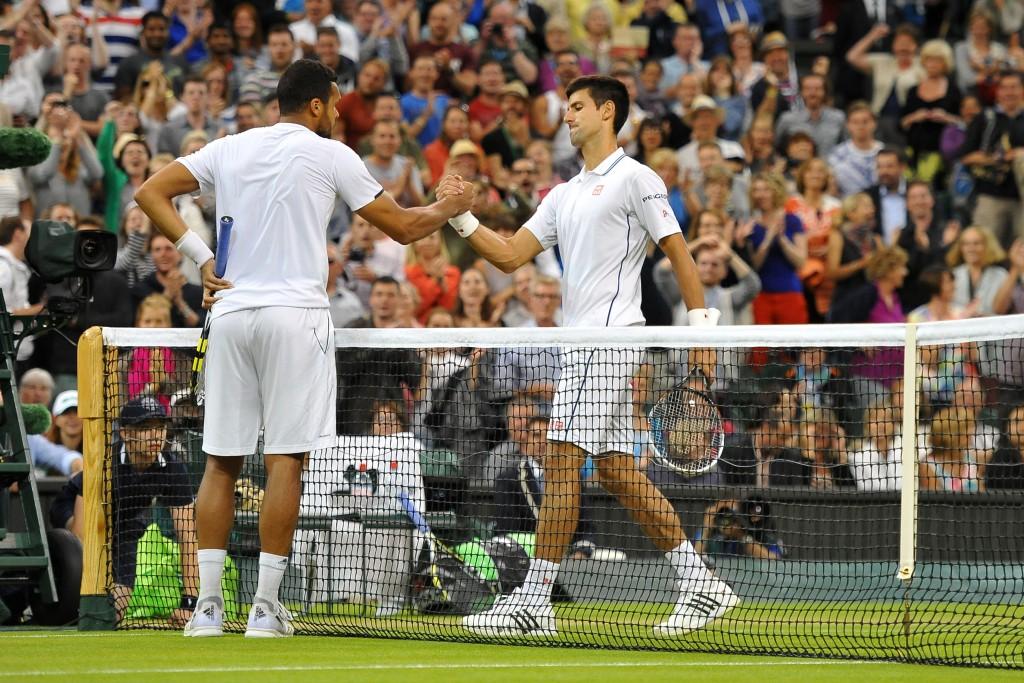 Jo Wilfried Tsonga (FRA) Novak Djokovic (SRB)