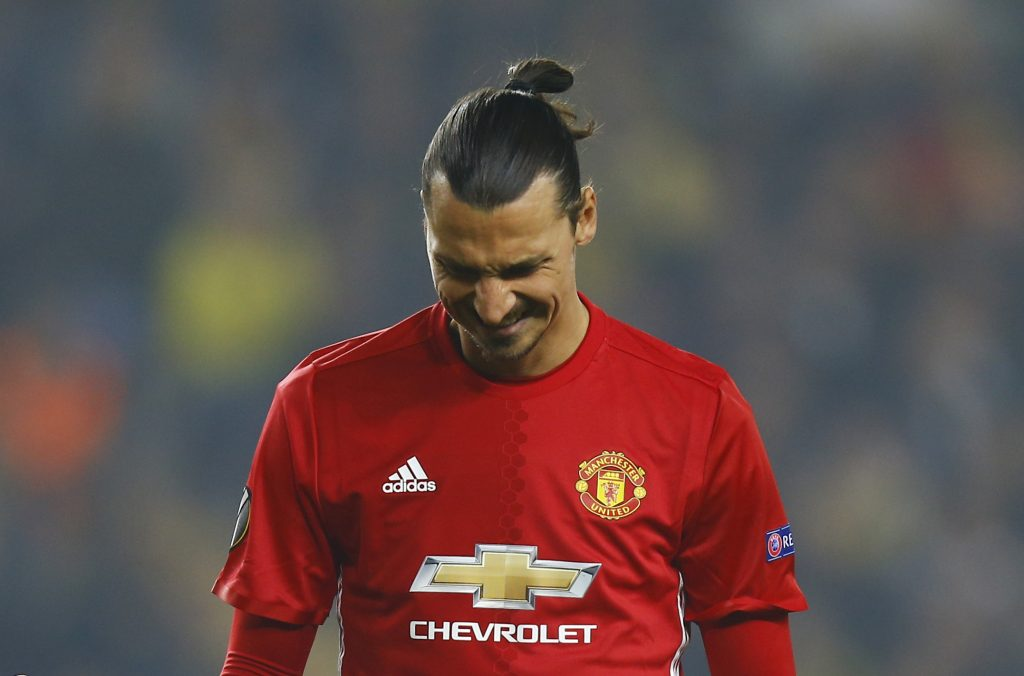 Football Soccer - Fenerbahce SK v Manchester United - UEFA Europa League Group Stage - Group A - SK Sukru Saracoglu Stadium, Istanbul, Turkey - 3/11/16 Manchester United's Zlatan Ibrahimovic looks dejected  Reuters / Osman Orsal Livepic EDITORIAL USE ONLY.