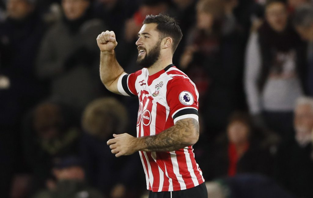 "Britain Football Soccer - Southampton v Everton - Premier League - St Mary's Stadium - 27/11/16 Southampton's Charlie Austin celebrates scoring their first goal  Reuters / Stefan Wermuth Livepic EDITORIAL USE ONLY. No use with unauthorized audio, video, data, fixture lists, club/league logos or ""live"" services. Online in-match use limited to 45 images, no video emulation. No use in betting, games or single club/league/player publications.  Please contact your account representative for further details."