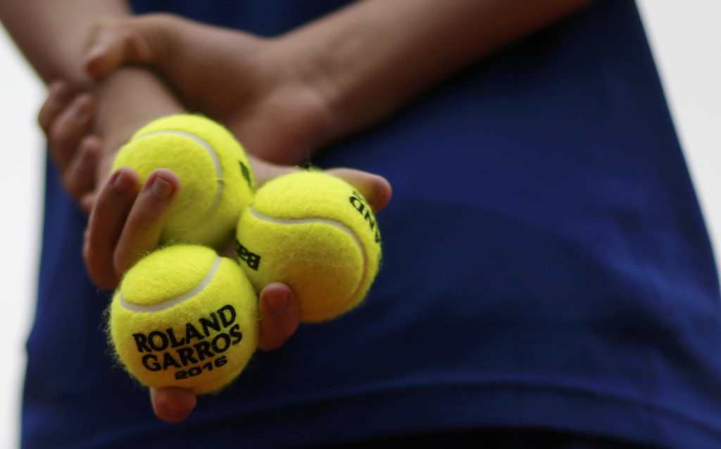Tennis - French Open - Roland Garros - Viktor Troicki of Serbia v Stan Wawrinka of Switzerland - Paris, France - 29/05/16. Roland Garros ball boy holds tennis balls.  REUTERS/Gonzalo Fuentes  Picture Supplied by Action Images