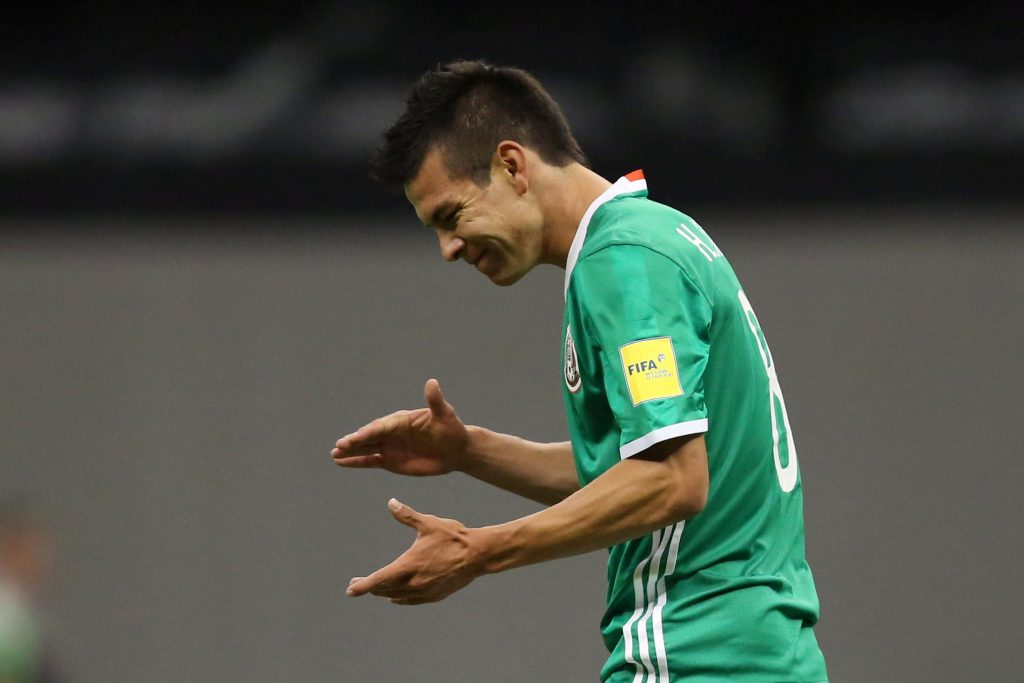 Football Soccer - Mexico v Honduras - World Cup 2018 Qualifiers - Azteca Stadium, Mexico City, Mexico - 06/09/16 - Mexico's Hirving Lozano reacts. REUTERS/Edgard Garrido  Picture Supplied by Action Images