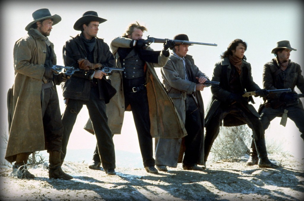 still-of-charlie-sheen,-emilio-estevez,-dermot-mulroney,-kiefer-sutherland,-lou-diamond-phillips-and-casey-siemaszko-in-young-guns-(1988)-large-picture