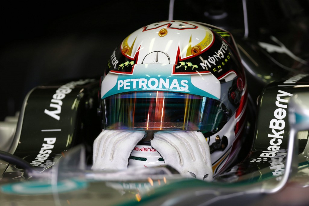 Formula One - F1 - Brazilian Grand Prix 2014 - Autodromo Jose Carlos Pace, Sao Paulo, Brazil - 8/11/14 Mercedes' Lewis Hamilton Mandatory Credit: Action Images / Hoch Zwei Livepic EDITORIAL USE ONLY. PLEASE NOTE: FOR UK EDITORIAL SALES ONLY. FOR ALL OTHER USAGE ADDITIONAL FEES WILL APPLY - PLEASE CONTACT YOUR ACCOUNT MANAGER. *** Local Caption *** --