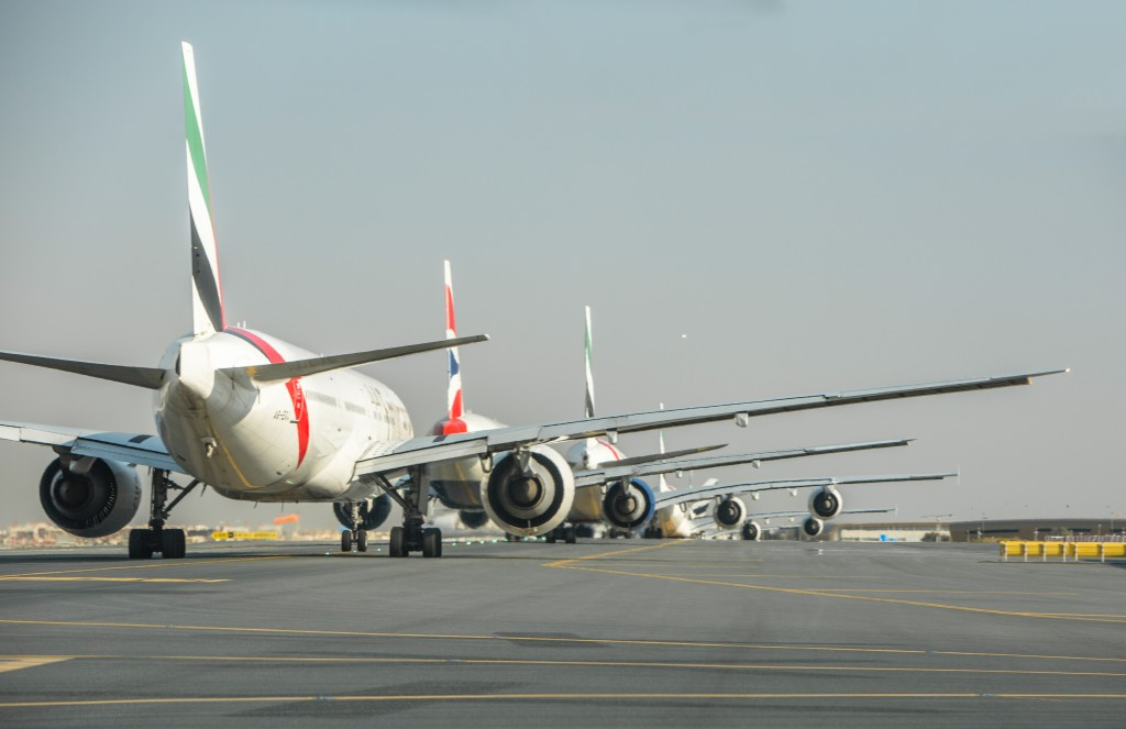DUBAI AIRPORT, UAE - Airside shot picturing Emirates aircrafts waiting for take off. (Photo Credit: © National Geographic Channels/Andy Davies)