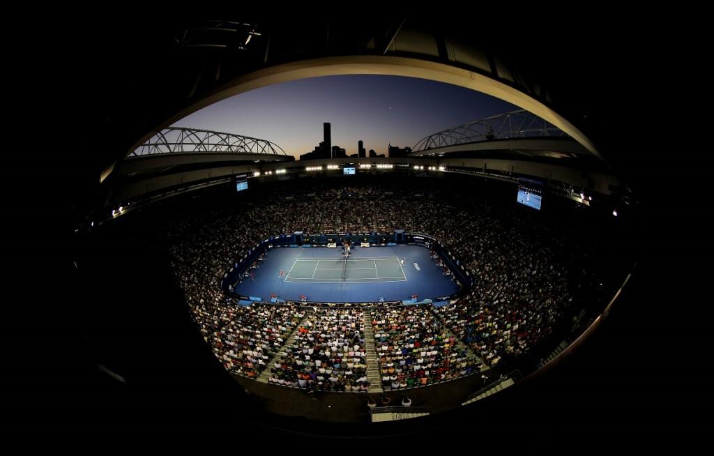 Tennis - Australian Open  - Melbourne Park, Australia - 27/1/12 Men's Singles - General view during the semi finals Mandatory Credit: Action Images / Jason O'Brien Livepic