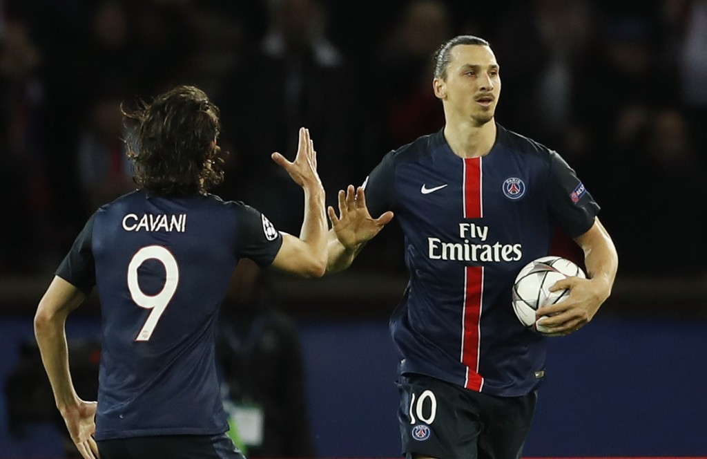 Football Soccer - Paris St Germain v Manchester City - UEFA Champions League Quarter Final First Leg - Parc des Princes, Paris, France - 6/4/16 Zlatan Ibrahimovic celebrates after scoring the first goal for PSG Action Images via Reuters / John Sibley Livepic EDITORIAL USE ONLY.