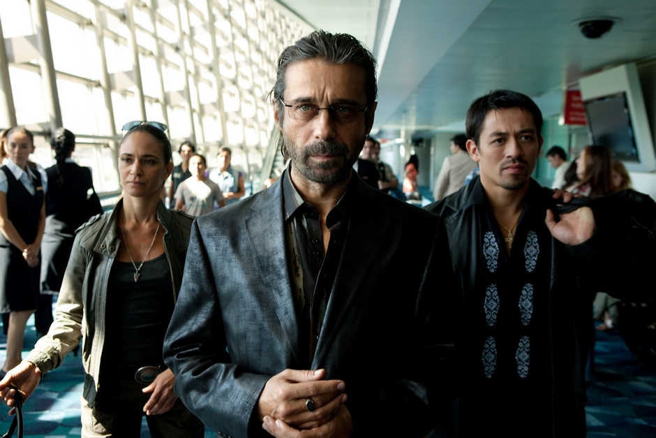 """(Center) Jordi Molla as """"Marco"""" in Columbia Pictures' COLOMBIANA."""