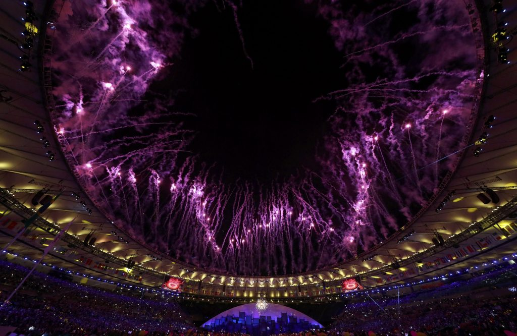 2016 Rio Olympics - Opening Ceremony - Maracana - Rio de Janeiro, Brazil - 05/08/2016.Fireworks explode during the opening ceremony.  REUTERS/Kai Pfaffenbach  FOR EDITORIAL USE ONLY. NOT FOR SALE FOR MARKETING OR ADVERTISING CAMPAIGNS.    Picture Supplied by Action Images