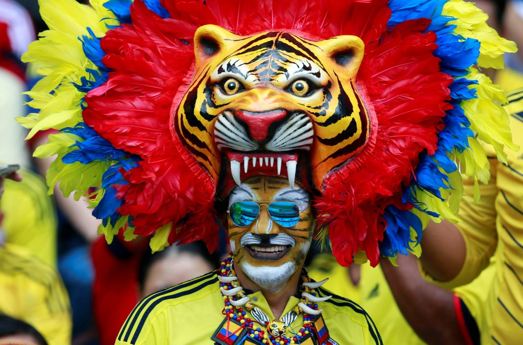 Football Soccer - Colombia v Uruguay - World Cup 2018 Qualifiers - Roberto Melendez stadium, Barranquilla, Colombia - 11/10/16 Colombia's fan poses for pictures.  REUTERS/John Vizcaino  Picture Supplied by Action Images