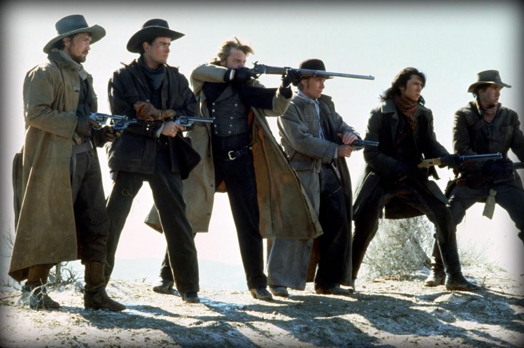 still-of-charlie-sheen,-emilio-estevez,-dermot-mulroney,-kiefer-sutherland,-lou-diamond-phillips-and-casey-siemaszko-in-young-guns-(1988)-large-picture